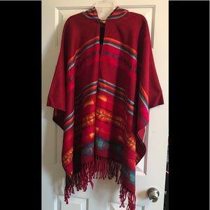 Southwestern Hooded Poncho